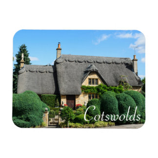 Thatched roof cottage in the Cotswolds Rectangular Photo Magnet