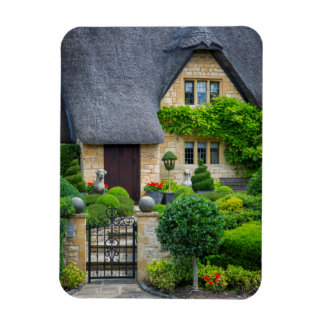 Thatched roof cottage rectangular photo magnet