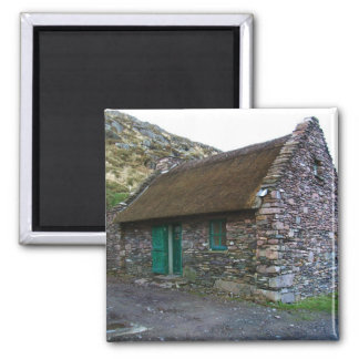 Thatched Stone Cottage Ireland Magnet
