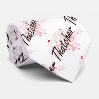 Thatcher Artistic Job Design with Butterflies Tie