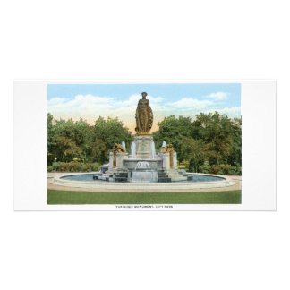 Thatcher Monument Denver Colorado Customized Photo Card
