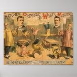 Thatcher Primrose and Wests Minstrels Poster