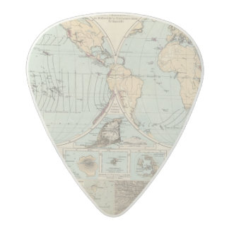 Thatigkeit des Erdinnern Atlas Map Acetal Guitar Pick