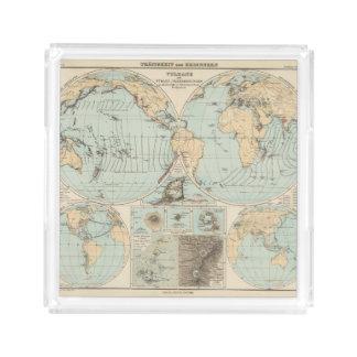 Thatigkeit des Erdinnern Atlas Map Acrylic Tray
