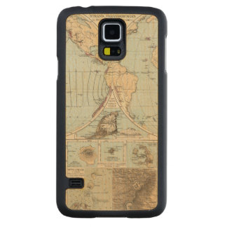 Thatigkeit des Erdinnern Atlas Map Carved Maple Galaxy S5 Case