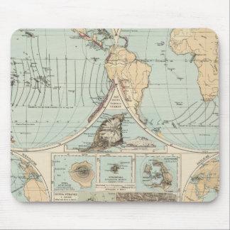 Thatigkeit des Erdinnern Atlas Map Mouse Pad