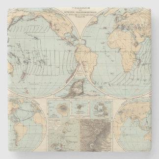 Thatigkeit des Erdinnern Atlas Map Stone Coaster