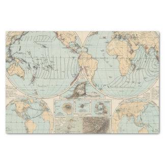 Thatigkeit des Erdinnern Atlas Map Tissue Paper