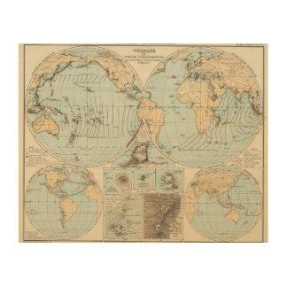 Thatigkeit des Erdinnern Atlas Map Wood Wall Decor
