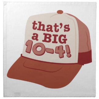 Thats A Big 10-4! Printed Napkins