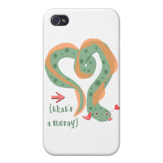 """That's A Moray"" Love Pun Eel iPhone 4/4S Cover"