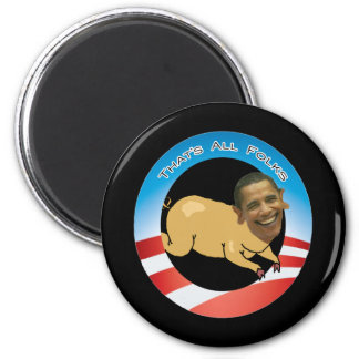That's All Folks 6 Cm Round Magnet