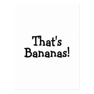 Thats Bananas Postcard
