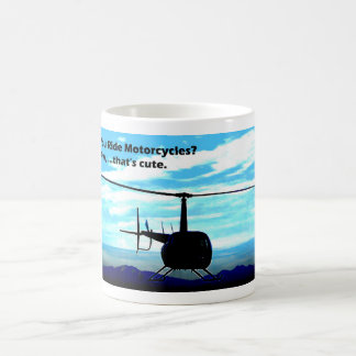 That's Cute Helicopter Basic White Mug