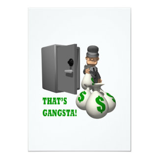 Thats Gangsta 5x7 Paper Invitation Card