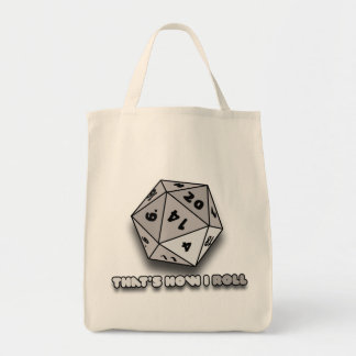 That's How I Roll d20 Canvas Bags