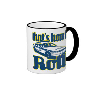 Thats How I Roll Police Ringer Coffee Mug