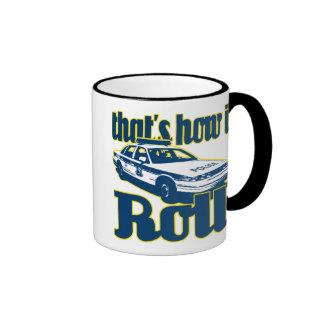 Thats How I Roll Police Ringer Mug