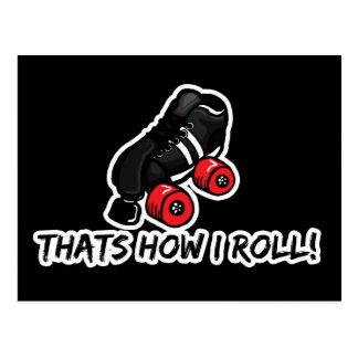 Thats how I roll quadskate edition Postcards