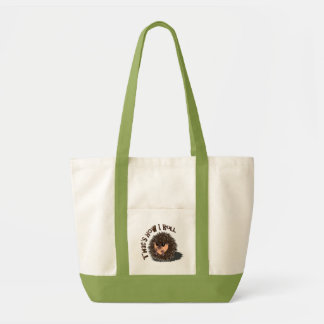 """That's How I Roll"" rolled-up hedgehog Tote Bag"