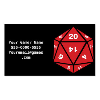 Thats How I Roll Video Game Gamer Business Cards