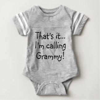 That's It.. I'm Calling Grammy! Baby Romper Custom Baby Bodysuit