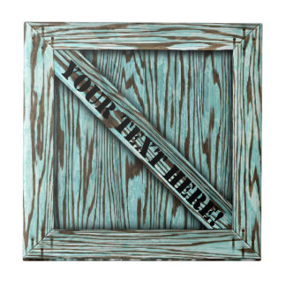 That's just Crate! - Aqua Wood - Small Square Tile