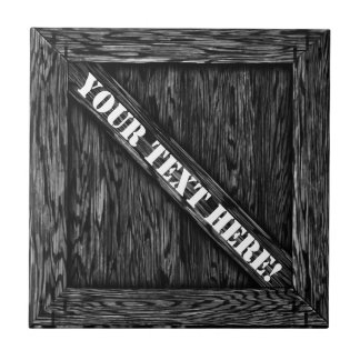 That's just Crate! - Black Wood - Small Square Tile