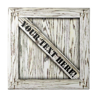 That's just Crate! - White Wood - Small Square Tile