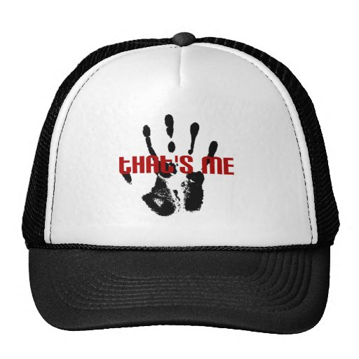 thats me handprint trucker hat