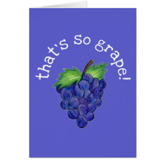 That's So Grape (Great) Congrats Purple Grapes Card
