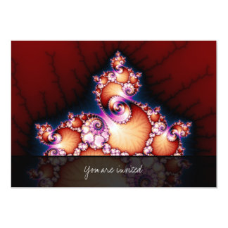 Thats The Point - Fractal Art 13 Cm X 18 Cm Invitation Card