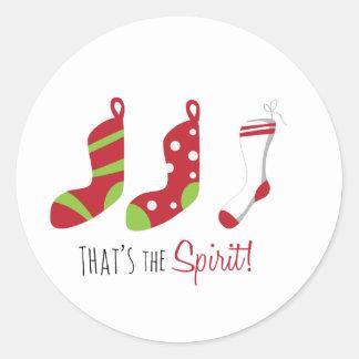 Thats The Spirit Round Stickers