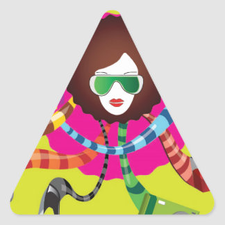 Thats the way we girls are !! triangle sticker