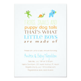 That's What Little Boys Are Made Of  | Baby Shower 13 Cm X 18 Cm Invitation Card