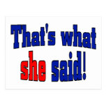 That's what she said! (English) Postcards