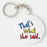 that's what she said keychain