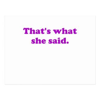 Thats What She Said. Postcard