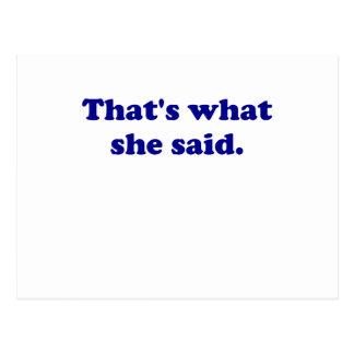 Thats What She Said Postcard