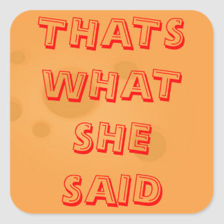 Thats what she said square sticker