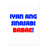 That's What She Said (Tagalog) Postcards