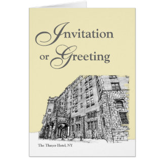 Thayer Hotel cream ivory Note Card