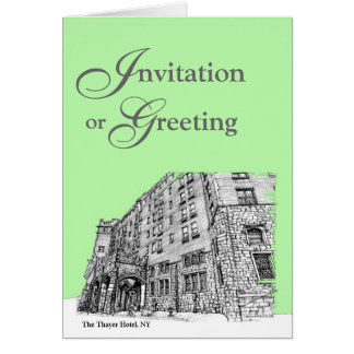 Thayer Hotel in lime green Note Card