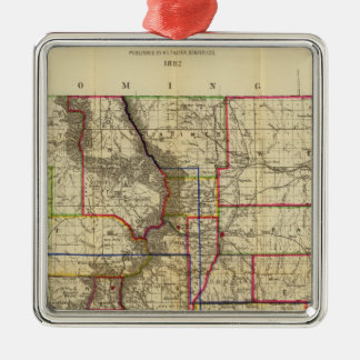 Thayer's map of Colorado 2 Christmas Ornament
