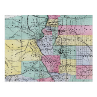 Thayer's Map of Colorado Postcard