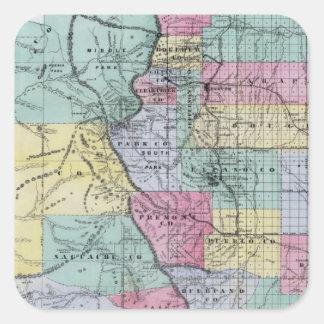 Thayer's Map of Colorado Square Sticker