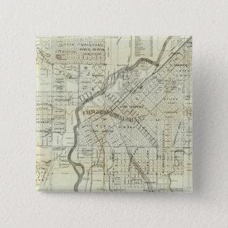 Thayer's Map of Denver Colorado 15 Cm Square Badge