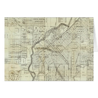 Thayer's Map of Denver Colorado Greeting Card