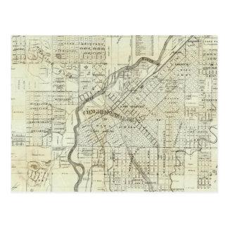 Thayer's Map of Denver Colorado Postcard