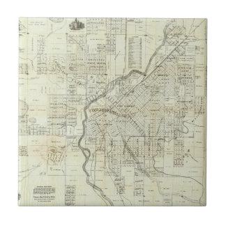 Thayer's Map of Denver Colorado Tile